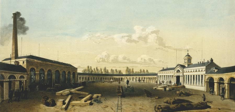 GHI-Lithographie extraite de La Belgique industrielle, vers 1852