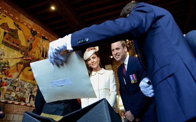 La visite de la famille royale britannique à Mons le 4 août 2014