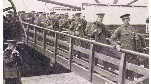Répartition des Forces britanniques lors de la « Bataille de Mons» d'août 1914