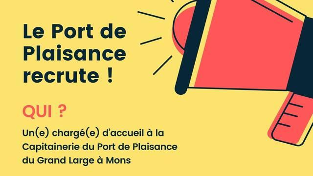 Chargé(e) d'accueil à la Capitainerie du Port de Plaisance du Grand-Large à Mons // CDD
