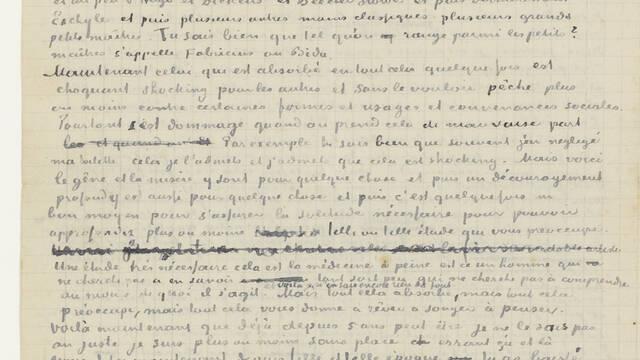 Retranscription d'une lettre à son frère Théo (juin 1880)
