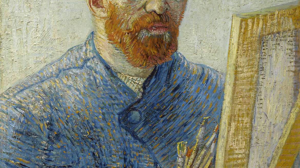 Self-portrait as a painter Vincent van Gogh 1887 – 1888 Van Gogh Museum, Amsterdam (Van Gogh Foundation)