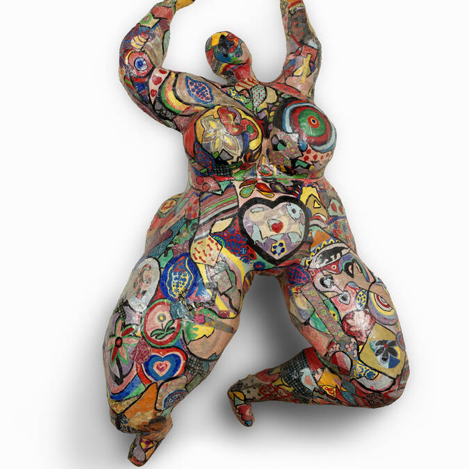 "Niki de Saint Phalle,""Lili ou Tony"", 1965 © 2018 NIKI CHARITABLE ART FOUNDATION, All rights reserved.  Photo : © André Morin / Courtesy Galerie GP & N Vallois, Paris"