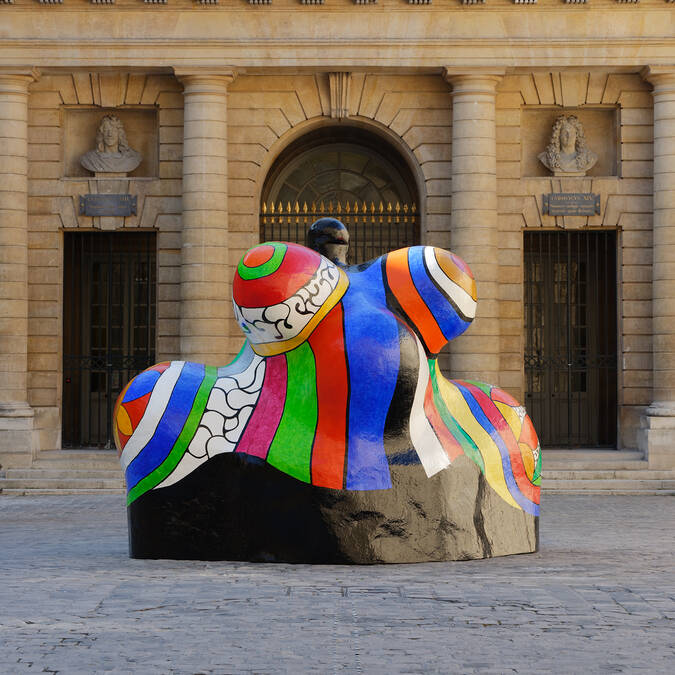 "Niki de Saint Phalle, ""Nana-Maison II"", 1966-1987. Donation Niki de Saint Phalle / Sprengel Museum, Hannover.  © 2018 Niki Charitable Art Foundation, All rights reserved  Photo : © Monnaie de Paris - Aurélien Mole"